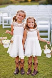 Cute bridesmaid dresses for little girls ideas 2